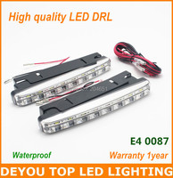 High quality  Waterproof  8 LED Daytime Running Light  IP65 E4 LED DRL Fog car lights 1year warranty  free shipping