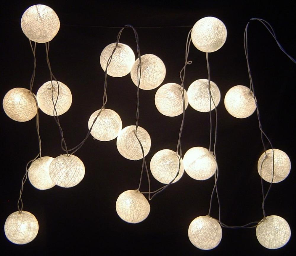 2015 new design pure white cotton ball string lights , Fairy lights,Wedding,party,Patio,xmas Decor(China (Mainland))