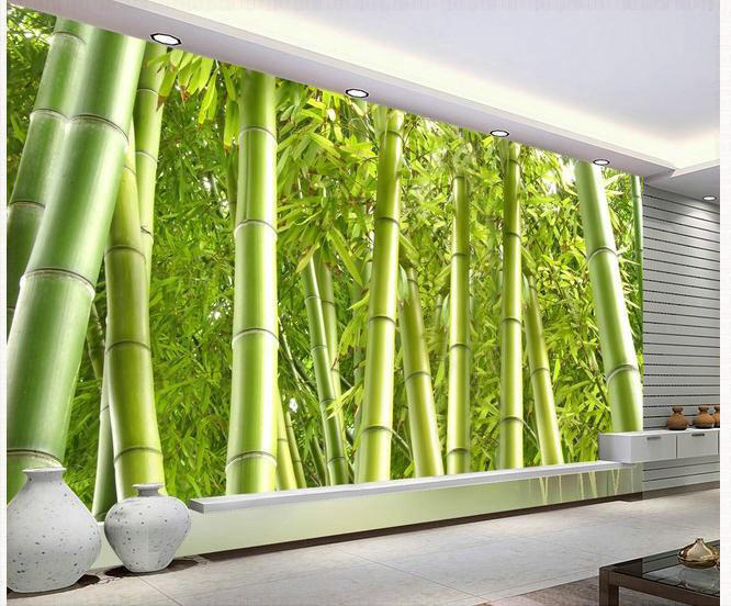 New large wallpaper custom wallpaper bamboo tv backdrop for Bamboo wall mural wallpaper