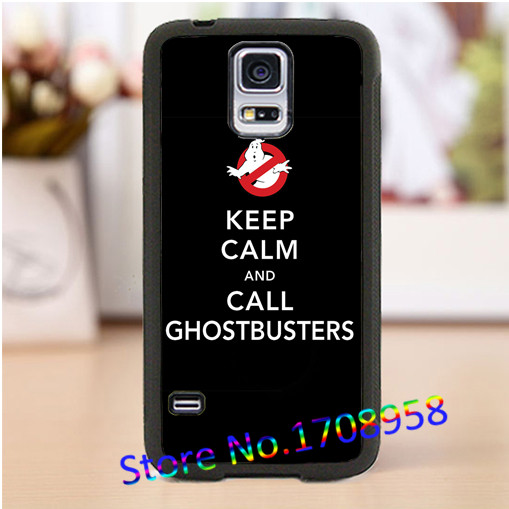 keep calm and call ghostbusters cell phone cover case for Samsung Galaxy S3 S4 S5 S6 S7 Note 2 Note 3 Note 4 &M#62(China (Mainland))