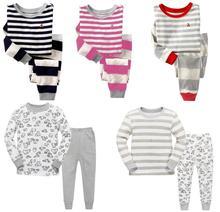 Buy Kids Pajamas Girls Boys Long Sleeve Stripe Pajamas sets T-shirt+pants 2 pieces Kids Cotton Sleepwear for $48.33 in AliExpress store