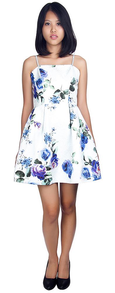 1шт rinascimento женщин цветок печатных платье