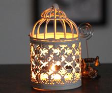 Candle holders white mini decorative metal bird cage vintage home weddings decoration wrought iron candlesticks lantern HO13702(China (Mainland))