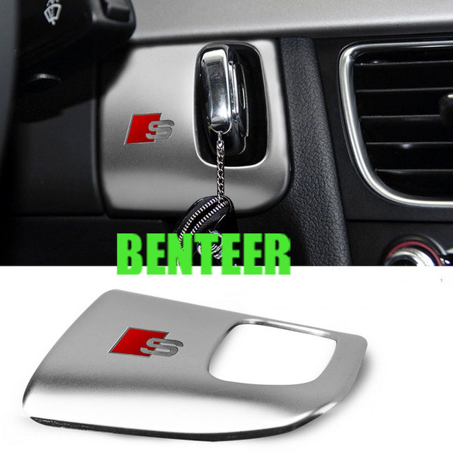 stainless steel car interior decoration car key hole decoration for Audi A4 A5