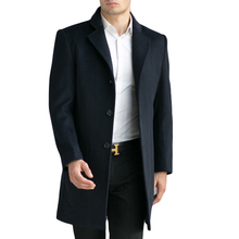 Men's Wool Coats & Jackets Winter Cashmere Jacket Man Long Section Business Style Overcoat Turn-down Collar Casual Woolen Coat(China (Mainland))