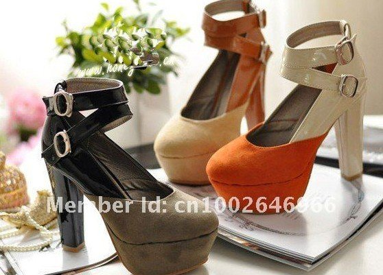DS The beauty of the feet, rural wind into the super thick clasp color thick with waterproof Taiwan high documentary shoes