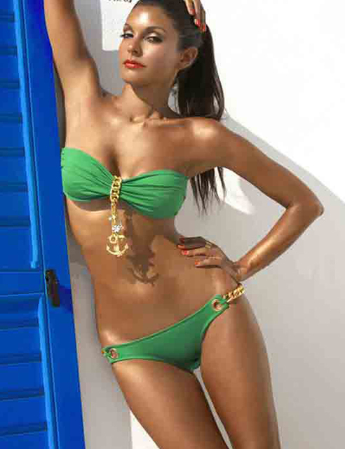 sailor golden green bikini swimwear sexy beach swim wear swimsuits swimsuit Tankini for women skirt beachwear bathers A01041