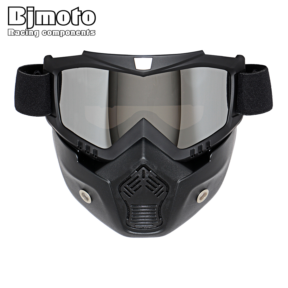 Hot Sales Modular Mask Detachable Goggles And Mouth Filter Perfect for Open Face Motorcycle Half Helmet or Vintage Helmets(China (Mainland))