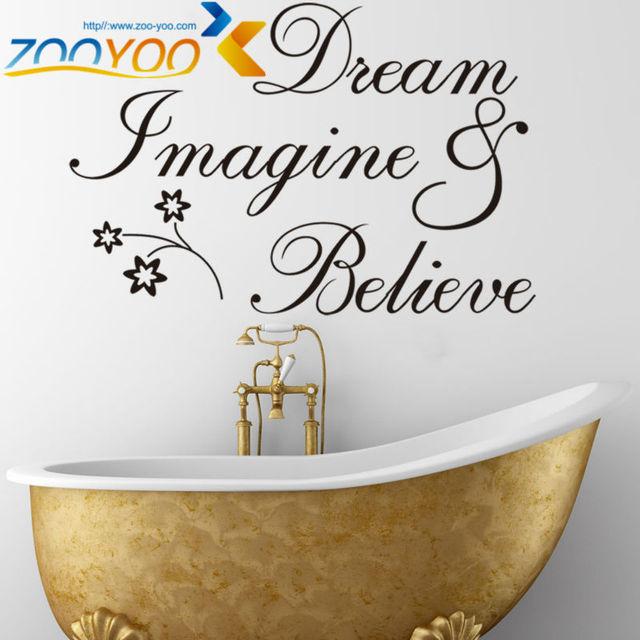 Мечта представьте поверьте цитата на стены 8182 декоративные adesivo де parede съемный виниловые наклейки