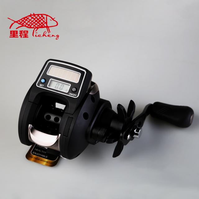 Free shipping new 2014 ofb500 electronic digital bait for Digital fishing reel