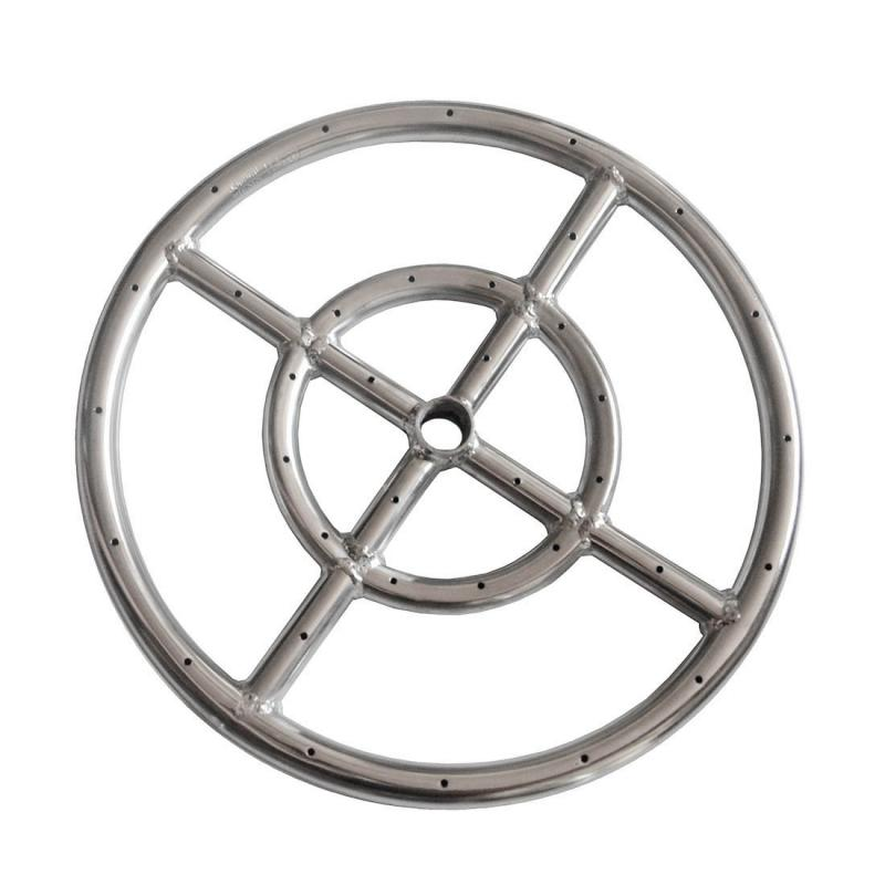 EARTH STAR 12 INCHES 304 Stainless Steel Propane Fire pit Ring Burner promotion price(China (Mainland))