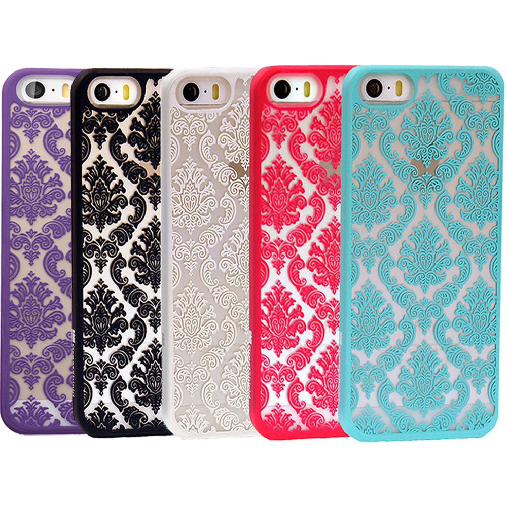 Damask Vintage Pattern Rubber Protector Hard Case Cover For Apple For iPhone 5 5G 5S 5C(China (Mainland))