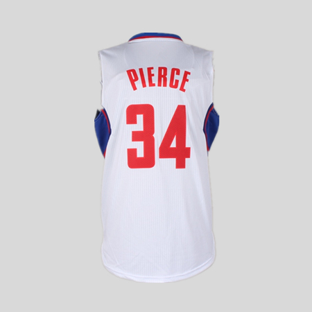 free shipping 2015 jerseys youth Los Angeles LAC The truth Paul Pierce SF Clippers basketball home jersey white #34(China (Mainland))