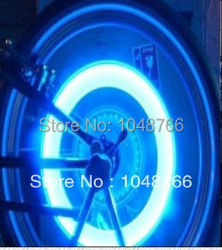 Car electric rim lights double sense of wheels tyre decoration lamp colorful tire valve lamp Free Shipping(China (Mainland))