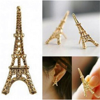e024 2015 the Eiffel Tower in Paris, a lot of fashion and lovely earrings women earrings(China (Mainland))