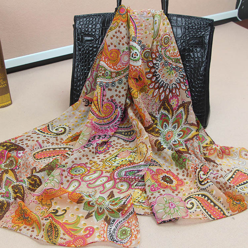65cm*165cm colorful indian paisley scarf silk fashion women shawl 5 colors ladies female summer scarfОдежда и ак�е��уары<br><br><br>Aliexpress