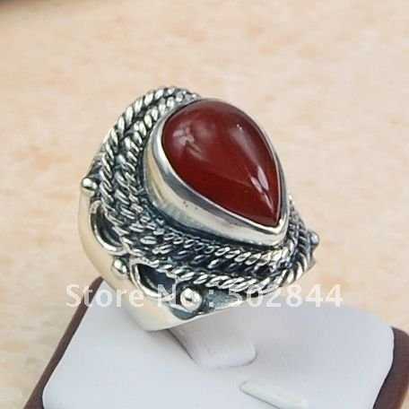 gemstone ring&carnelian agate ring,hot jewellery,925 sterling ring