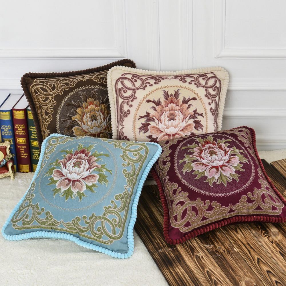 2015 latest design sofa velvet cushion European decorative pillows top grade car pillow cushions ...