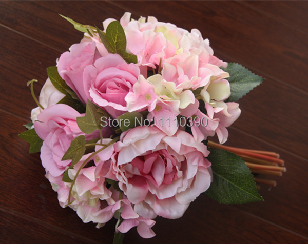 Large Artificial Peony BouquetReal Touch Flowers BouquetsSilk Peony Flower Bride Bouquet