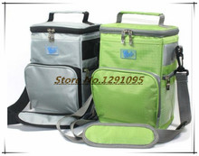 2015 free shipping New Fully Insulated Picnic Lunch Bag Cooler Bags Camping Drinks Large Capacity