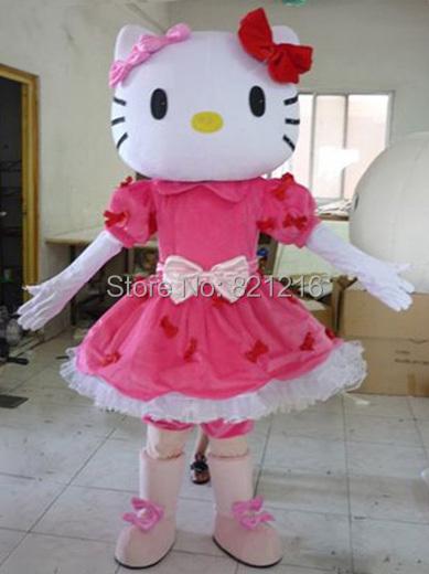 hot!Miss Hello Kitty Mascot Costume Adult Size Hello Kitty Mascot Costume+Free shipping(China (Mainland))