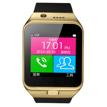 New GV09 Smart watch with Camera Bluetooth SmartWatch SMS FM Radio Function Support GSM SIM TF Card for iPhone and Android Phone