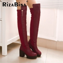 women high heel over knee boots boot fashion snow warm winter botas sexy militares brand footwear shoes P20260 size 33-43