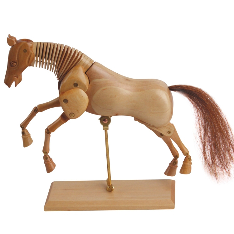 Ousidan 8 wooden horse model 20cm decorative wood joint for Wooden horseshoes for crafts