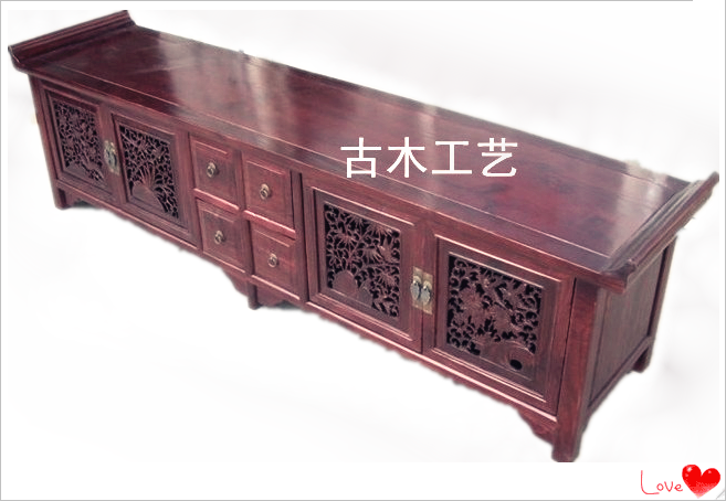 Antique furniture classical furniture elm chinese style solid wood furniture cutout tv cabinet - Reasons choosing vintage style furniture ...
