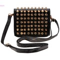 Women Messenger Bags PU Leather Shoulder Bag Ladies Rivet Decor Small Clutch Bag 24