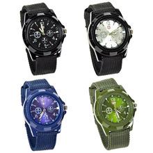 Lackingone 2015 del relogio moda masculino relojes hombres reloj de cuarzo correa de lona Fabric exterior del envío