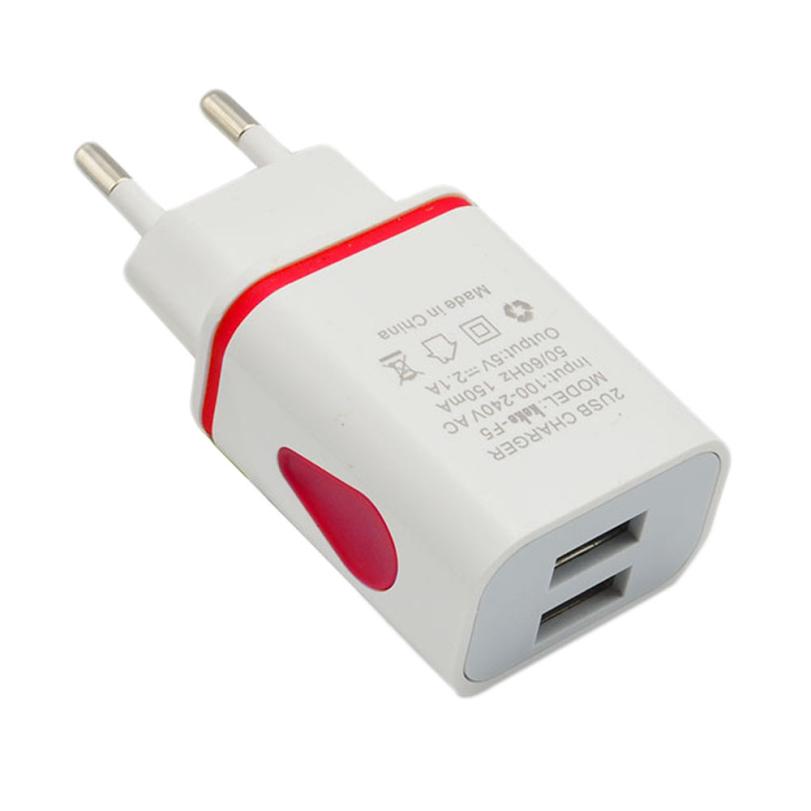 Hot-sale High Quality USB Power Adapter EU Plug Gifts LED USB 2 Port Wall Home Travel AC Charger Adapter For S7 EU Plug(China (Mainland))