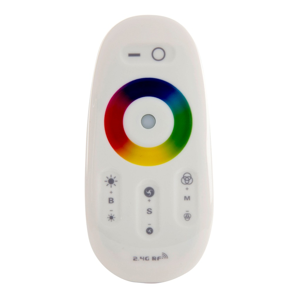 DC12-24V 18A RGB Led Controller 2.4G Touch Screen RF Remote Control for Led Strip/Bulb/Downlight Free Shipping(China (Mainland))