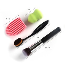 Buy Sponge Makeup Brush Set Cosmetics Foundation Blending Blush Cosmetic Makeup Brush Finger Glove Slilicone Hand Cleading Tool for $3.91 in AliExpress store