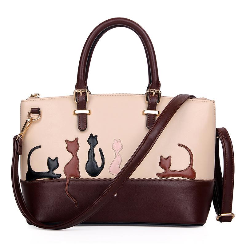 Women s Handbags Women Cute Cat Rabbit PU Leather Shoulder Bag Detachable Belt Handbags Lady Messenger