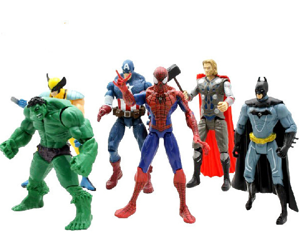 """6 pcs /set  6""""The Avengers 18cm marvel Captain America Thor hulk Iron man the Action Figures Toy Gifts Toys Action Figures"""