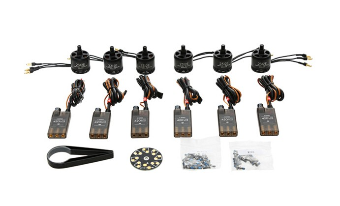 Dji e305 hexacopter kit with 6 pcs motor / esc and 4 pairs props for e305 dji accessories 2016 new coming