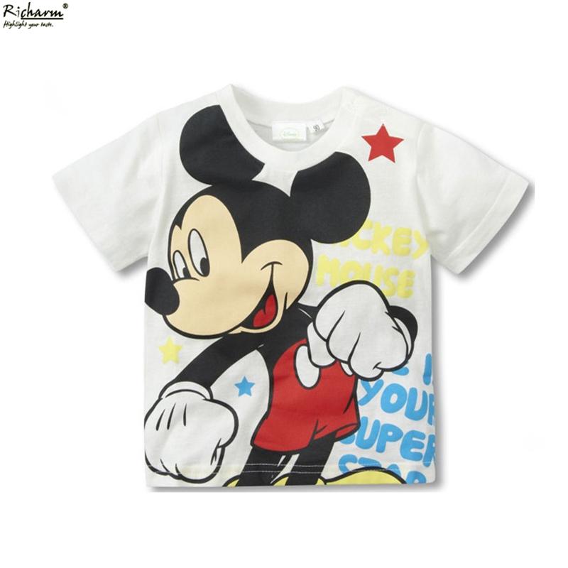 Bobo Choses Mini Rodini Kids Summer Slim Top Mickey Kid T Shirt Minnie Mouse Boys Clothing Shirts Cotton Short Sleeve Tee Shirt(China (Mainland))