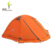 FLYTOP Winter tent 2-3persons Tourist aluminum pole double layer double door windproof storm proof professional camping tent