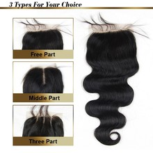 7A Lace Closure Bleached Knots Brazilian Body Wave Closure Base Top Human Hair Closure Virgin Hair