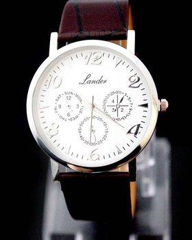 Free Shipping! Hot! Fashion&Luxury Wholesale Brown Gentlemen Mens Man Quartz Wrist Watch, BHE