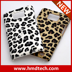 FREE SHIPPING 1 PCA Retail wholesale plastic leopard case for samsung i9100 galaxy s2 hard case