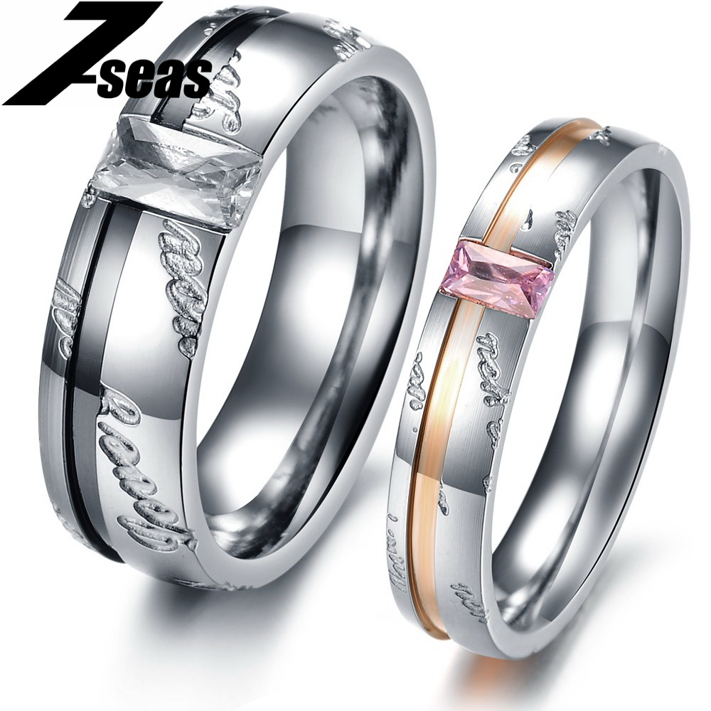 Fashion stainless steel ring with crystal black & gold color finger jewelry for couple US size 7-15 for male 5-10 for female 327(China (Mainland))