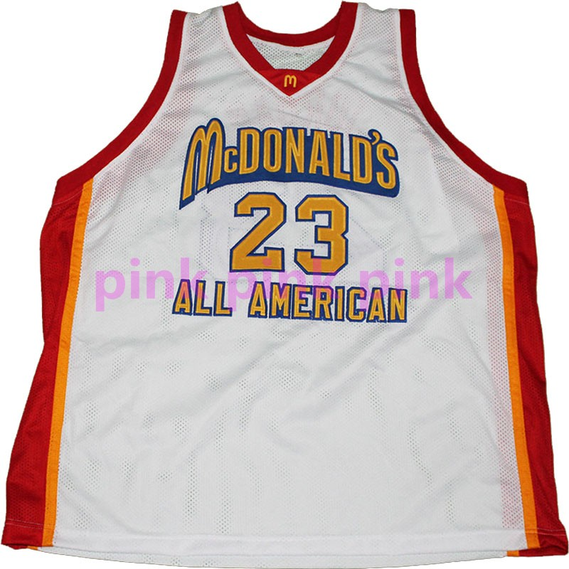 Best Quality #23 Michael Mcdonald All American High Quality Basketball Jersey,Men's Blue Red White Stitched Jerseys(China (Mainland))