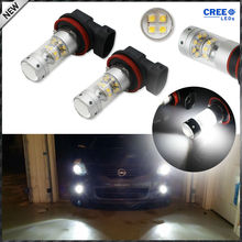 Buy 2pcs Extremely Bright 6000K Xenon White CRE'E High Power H8 H9 H11 LED Light Bulbs High Beam DRL Lights Fog Lights for $17.79 in AliExpress store
