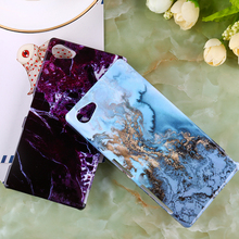 Hard Plastic Marble Phone Cases Sony Xperia Z5 Compact Mini E5823 S50 4.6 inch Durable Shield Shell Housing Cover - TAOYUNXI 3C Products Mall store