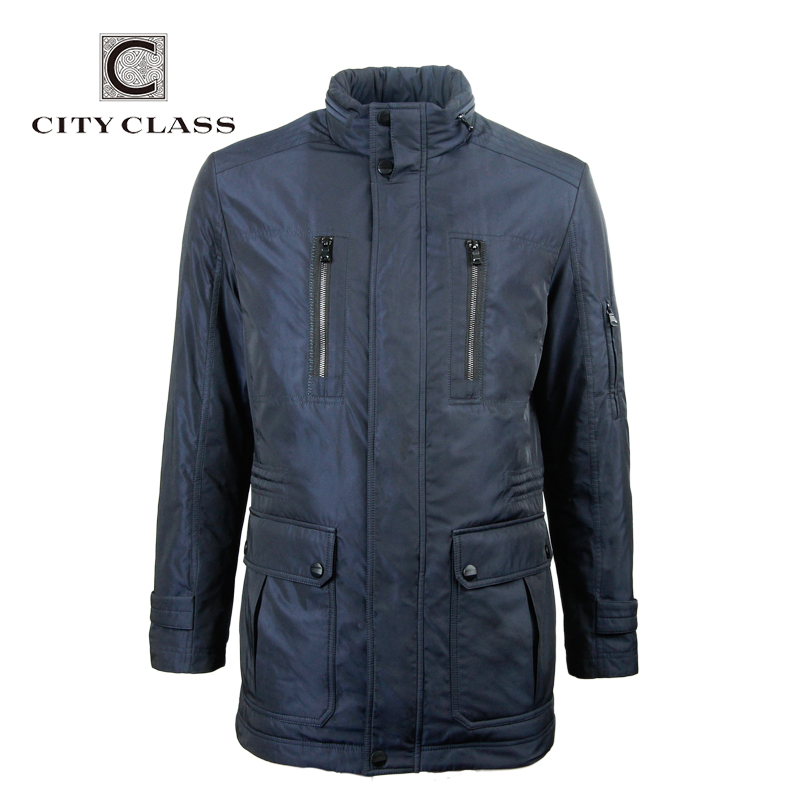 City Class 2016 new mens spring autumn warm coats stand collar bussiness style fashion slim unique multi-pocket for male15082(China (Mainland))