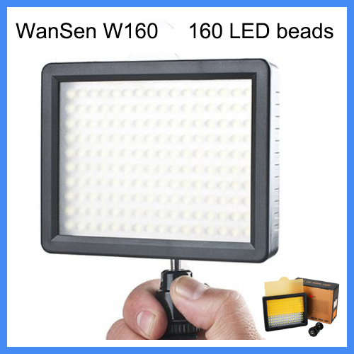 WanSen W160, LED Video Camera Light For CANON For NIKON the same with CN-160 free shipping(China (Mainland))