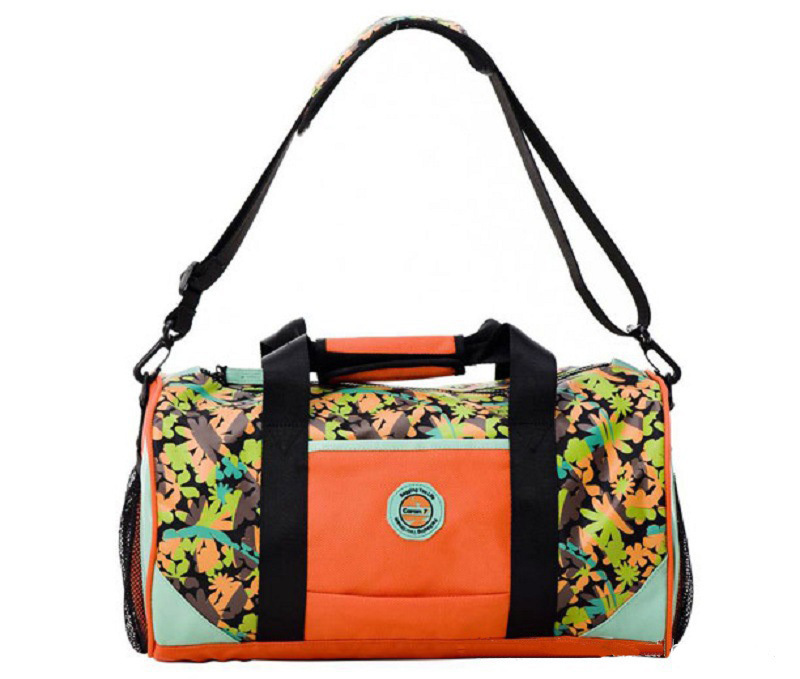 Promotion! New Design Nylon Multi-Color Waterproof Women's Gym Bags,Women Outdoor Sport Bags,Barrel,Black/Orange/Purple/Coffee