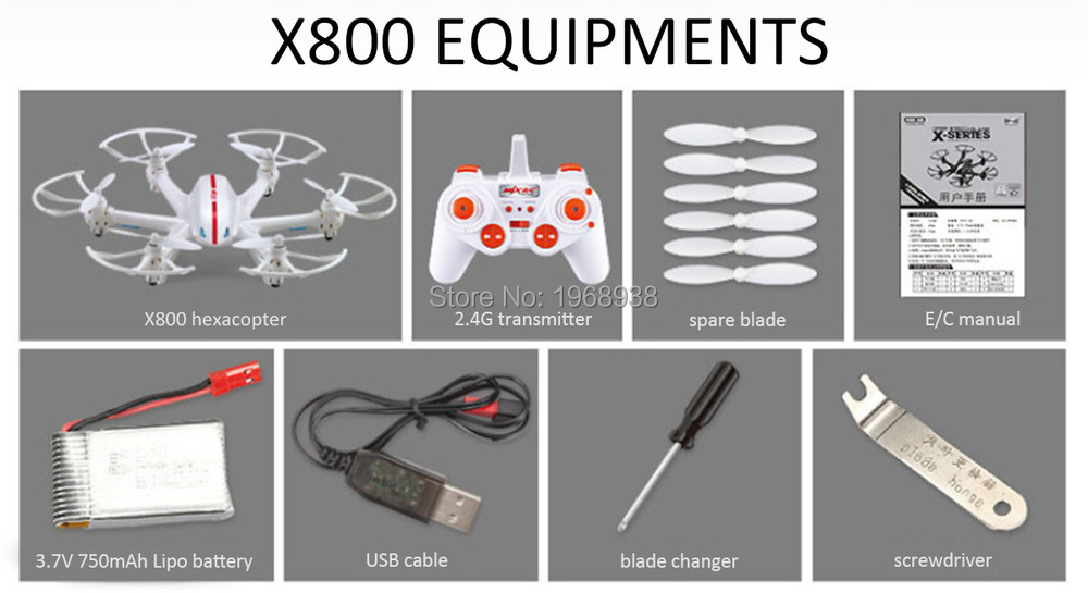 MJX X800 with C4005 Camera 6-Axis Gyro 3D Roll WIFI FPV RC Hexacopter with Gravity control mode RTF 2.4GHz Free Shipping